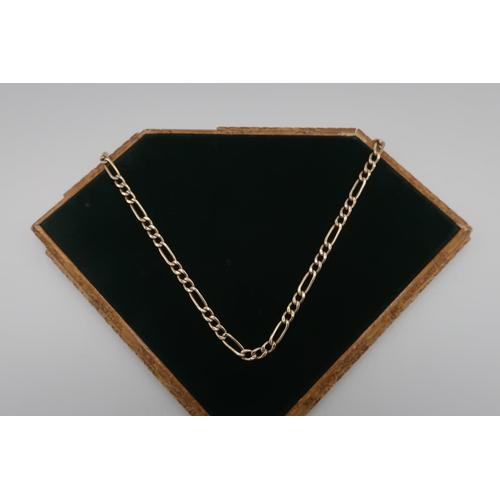 56 - 9kt gold flattened link necklace, stamped 9kt, 46cm long, 13.4g...