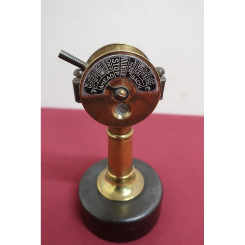 14 - Unusual German novelty brass cigar cutter in the form of a ships telegraph, by Eingetrschutzn
