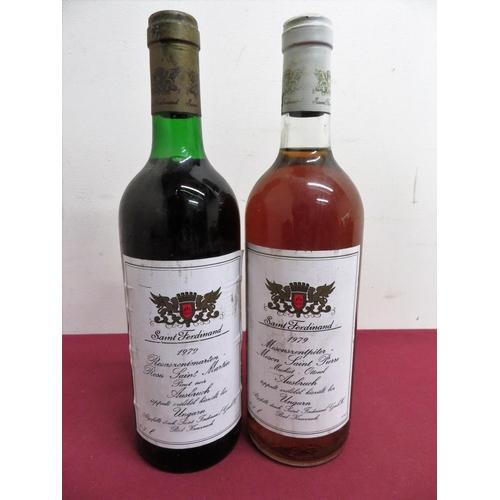 10 - Two bottles of St Ferdinand 1979, one Rosa Saint Martin and one Mason Saint Pierre (2)...