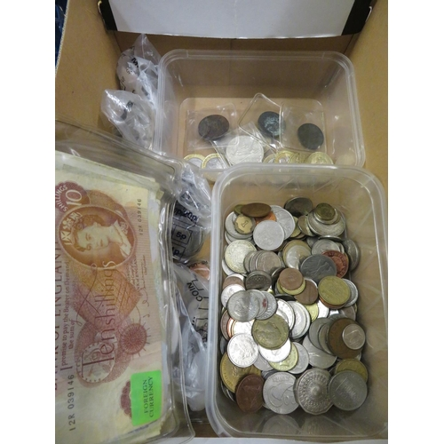 40 - Collection of GB and foreign pre and post decimal coins  three tokens and a quantity of Scottish and...