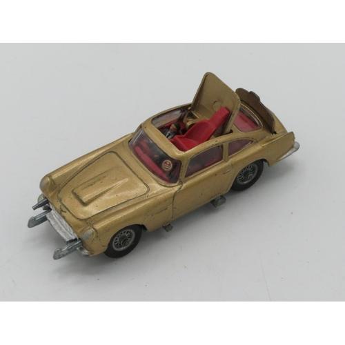 43 - Corgi James Bond Aston Martin DB5 (gold), other diecast models incl. Dinky, Leyland, Comet, and farm...
