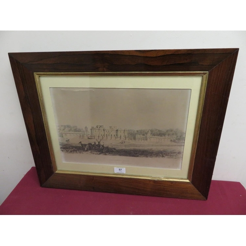 57 - J W Ramsden, Duncomb Park, lith by W et R Hanson, in rosewood frame, 25cm x 40cm...
