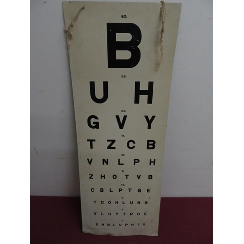 58 - W Wiseman & Co Opticians tin sight board, black letters on a white ground, 61cm x 23cm...