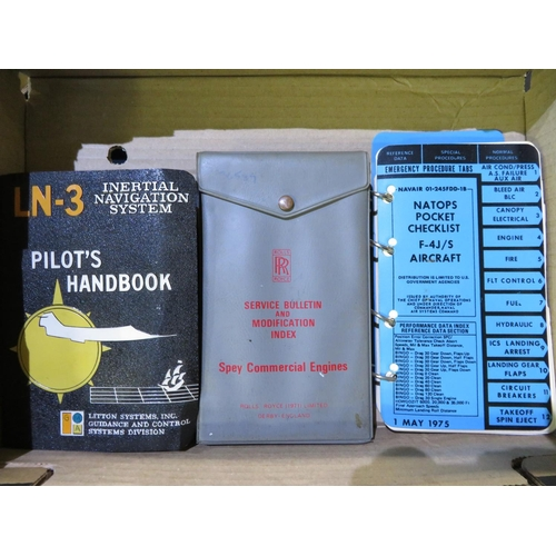 60 - Set of three handbooks for the pocket checklists for aircraft, including The LN-3 Integeral Navigati...