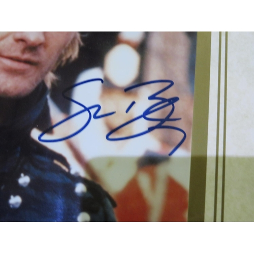 62 - Framed and signed photo of Sean Bean the TV role 'Sharpe' with COA in frame, a