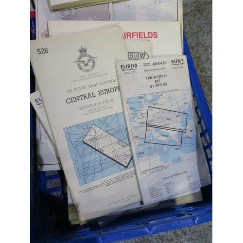 65 - Collection of England maps showing Airfields of Great Britain...