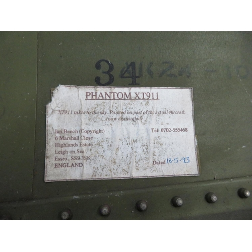 86 - Painting of a Phantom XT911, painted on part of aircraft dismantled in 1993...
