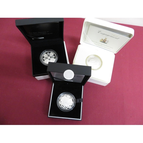 18 - Royal Mint 2013 Birth of HRH Prince George of Cambridge £5 Silver Proof Coin, in case and card box w...