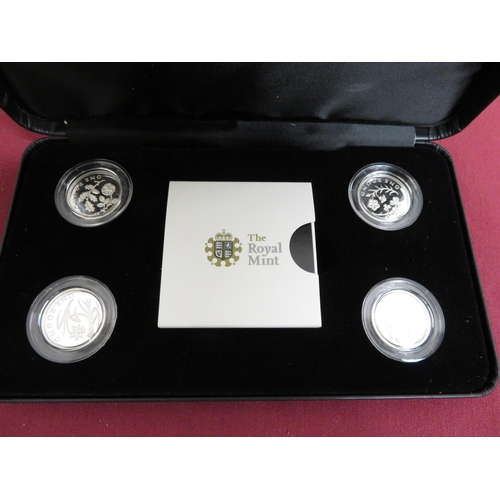 19 - Royal Mint 2013 Icons of a Nation: England, Wales 2014 N. Ireland Scotland silver proof £1 coins in ...