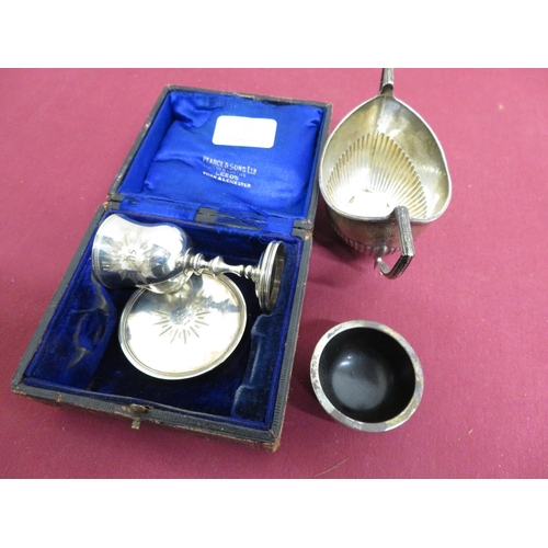 26 - Victorian hallmarked silver travelling Communion set, London 1847, in fitted case inscribed The Rev....