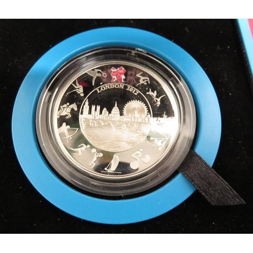 5 - Royal Mint The Official London 2012 Olympic £5 Silver Proof Coin, in case...