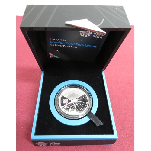 6 - Royal Mint The Official London 2012 Paralympic £5 Silver Proof coin, in case...