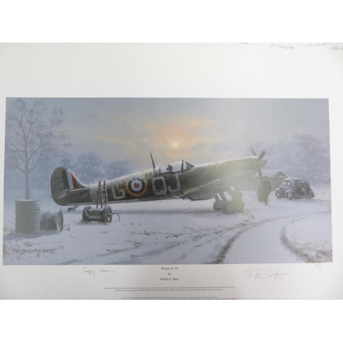 126 - Philip E West signed artist proof No.13/25 with multiple signatures,
