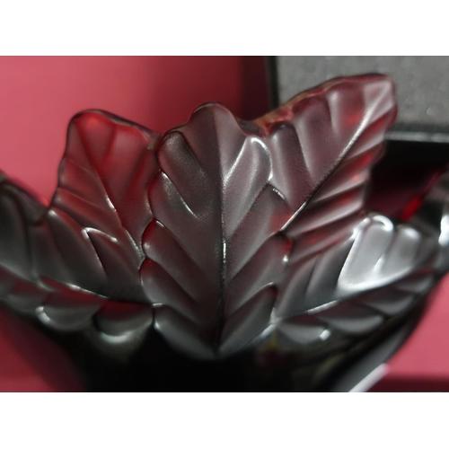 428 - Lalique Coupe Compiegne Rouge dish No.154792, in original box...