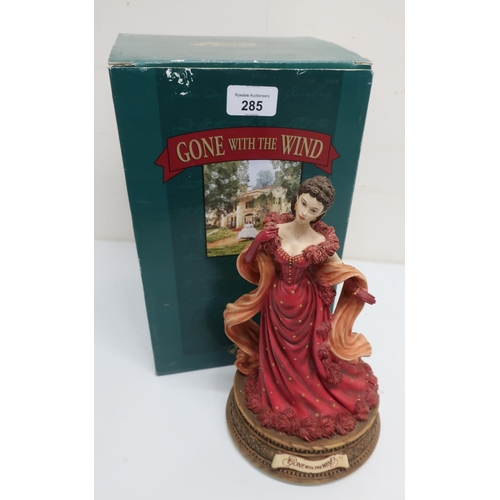 466 - The San Francisco music box and gift company Gone With The Wind collectable musical figure, in box a...