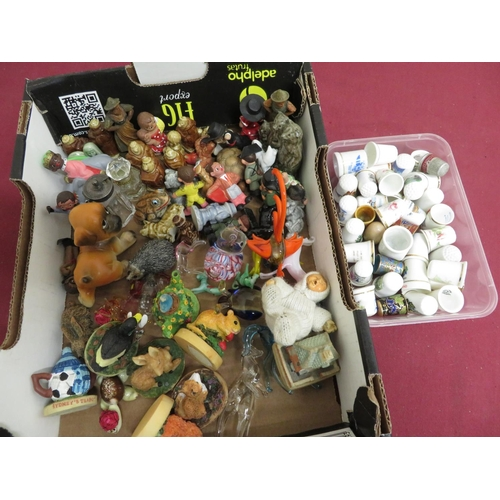 484 - Collection of Wade Whimsies, various other miniature animals and thimbles
