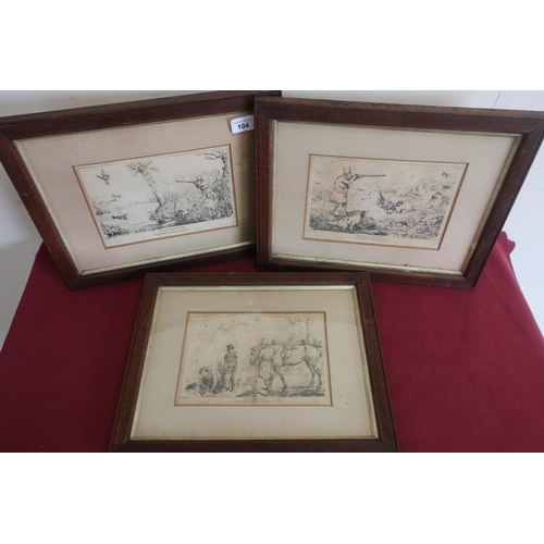 486 - After Henry Alken three hunting and shooting related prints