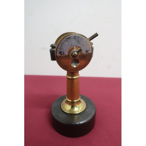 493 - Unusual German novelty brass cigar cutter in the form of a ships telegraph, by Eingetrschutzn