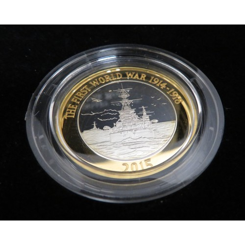 8 - Royal Mint 2015 100th Anniversary of the First World War Navy £2 silver proof coin, IWM A Force as G...