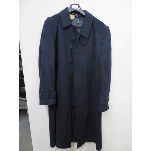 464 - Austrian 'Hucclecote' 95% wool black 3/4 length single breasted over coat...