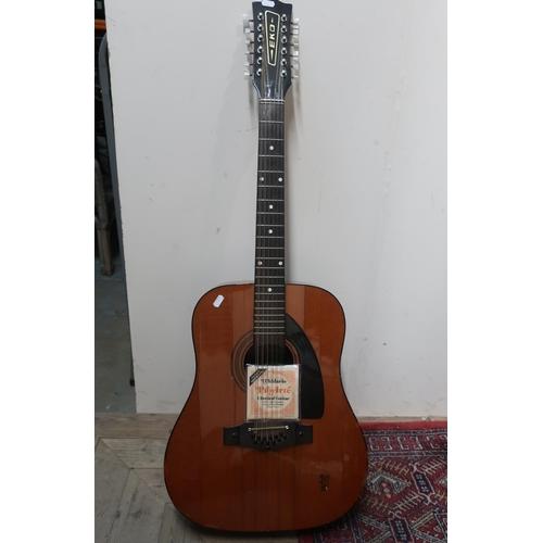 475 - Eko Rio Grande 12 acoustic guitar with manufactures label No.200478, D'Addario Pro-Arte guitar strin...
