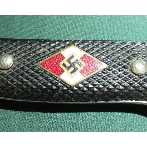 2 - Hitler Youth knife, with steel sheath...