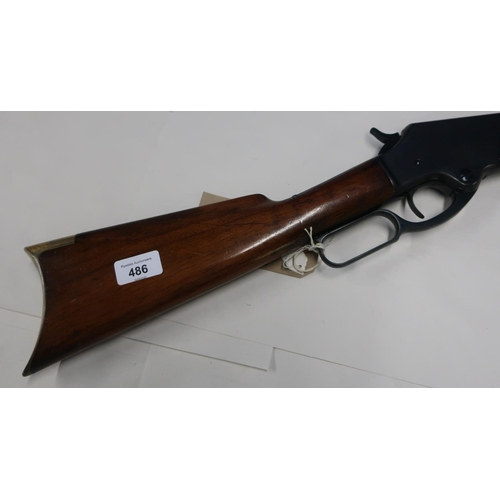 329 - Marlin 320-40 of New Haven USA rifle with 27 1/4 inch octagonal barrel, marked with patent dates Mar...