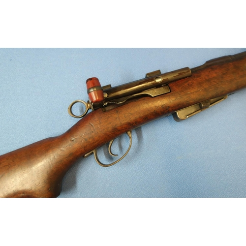 330 - Schmidt Ruben Swiss 7.5mm service rifle, with detachable boxed magazine, serial no. 479511 (section ...