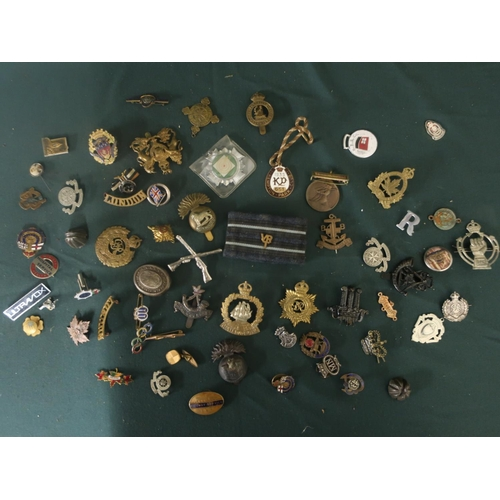 54 - Collection of badges and pins of various types including the boys brigade, Yorkshire and Lancashire ...