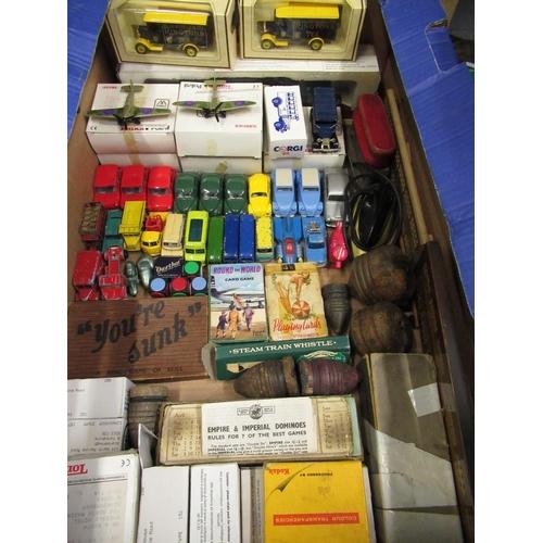 105 - Collection of Lesney diecast models including coaches, modern Corgi, Tonka Postil diecast Spitfire &...