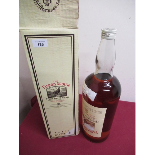 136 - The Famous Grouse Finest Scotch Whisky, 4.5l, 40%vol, in carton, 1btl...