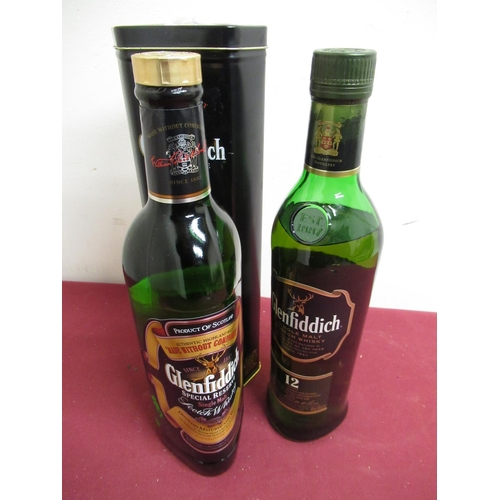 141 - Glenfiddich Special Reserve Single Malt Scotch Whisky, Aged 12 years, in tin, Glenfiddich Single Mal...