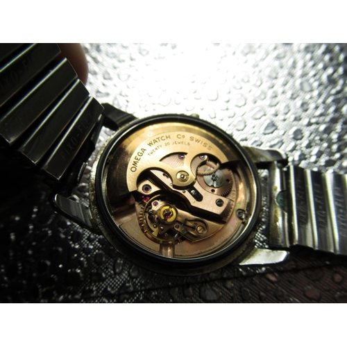 66 - Late 1950s Omega Seamaster automatic wristwatch,  silvered dial with applied Arabic numerals, 3,6,9,...