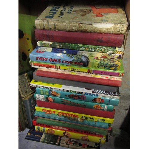 122 - Collection of children's books including Rupert's adventure books and the new Rupert's book, two Rup...