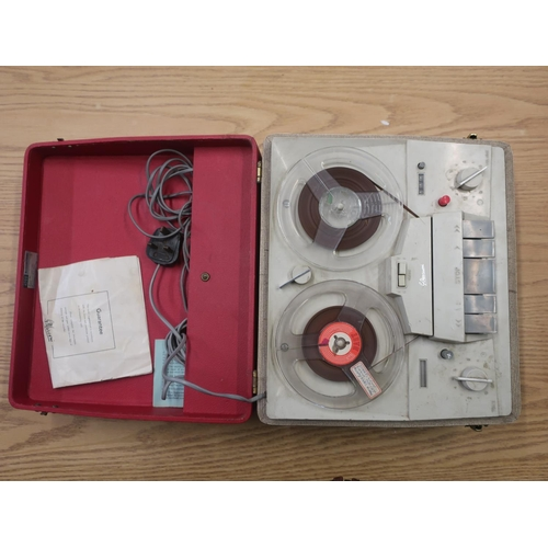 124 - Marconiphone four track two-speed tape recorder, model 4200 collection of easy listening and other L...