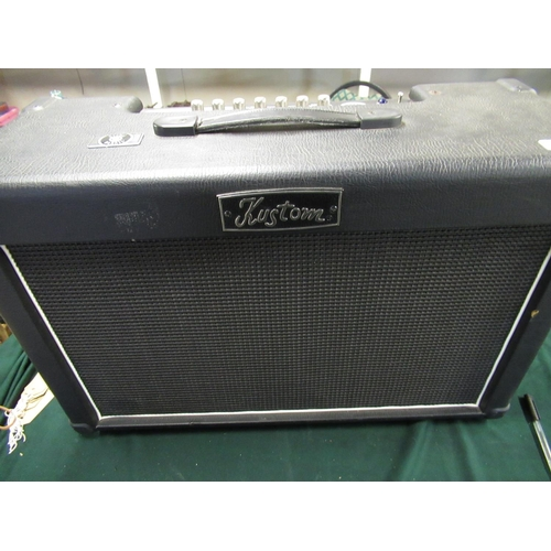 102 - Kustom double barrel guitar amplifier with two channels and effects...