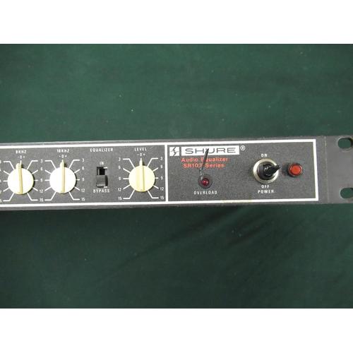 106 - Shure SR107-2E vintage audio equaliser rack unit (A/F)...