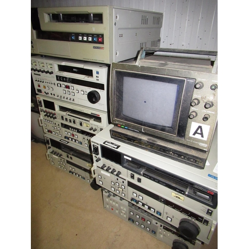 115 - Large selection of SVHS and Beta Cam SP copying equipment including monitors, etc (QTY)...