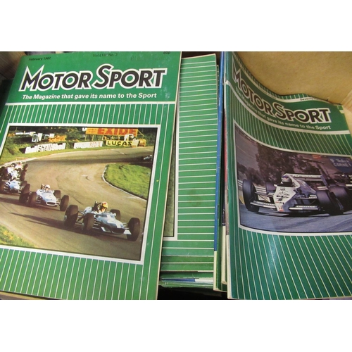 116 - Large quantity of 1980's Motorsport magazines, in two boxes...