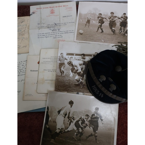 174 - Selection of ephemera and memorabilia relating to Roger Cooke rugby player for Sale Harlequins and S...