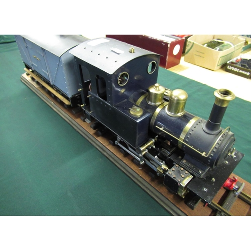 39 - G Scale livestream locomotive with roundhouse boiler system and wagon...