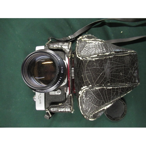 80 - Canon AE1 Program 50mm F 1.8 lens and winder, Minolta SRT303B with Minolta 58mm F2 lens and every re...