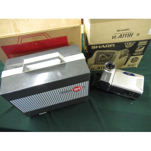 81 - Sharp VL-A111H video camera and a Eumig cine projector (2)...