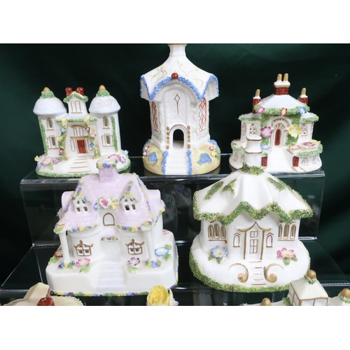 29 - Collection of Coalport houses including