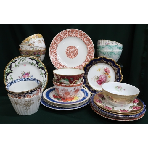 37 - Large collection of assorted china dinner plates and bowls including Royal Worcester and Foley China...