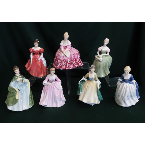 54 - Royal Doulton ladies; Victoria, Wonsome, Clarissa, Alison, Hostess of Williamsburg, Premiere and Ele...