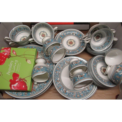 245 - Wedgwood Florentine dinner and tea service, six place settings, No.W2714...