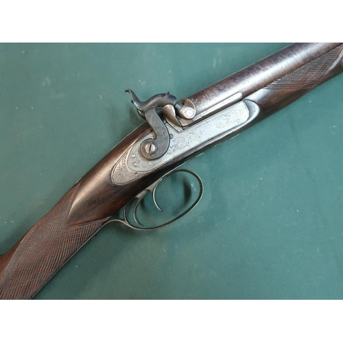116 - Gasquoine & Dyson side by side percussion cap sporting gun, converted from flintlock, with 29 inch D...