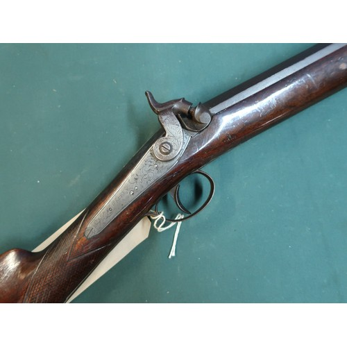 97 - A.Golden of Huddersfield percussion cap, single barreled sporting gun with 32-inch first stage octag...
