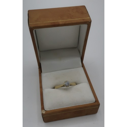 1139 - 9ct gold hallmarked solitaire diamond ring, claw set stone approx .25ct...